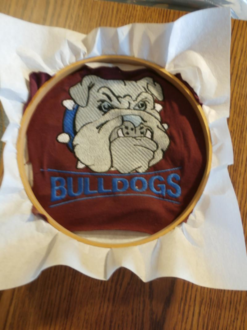 bull dog art made for your team club small office non profit send a jpeg