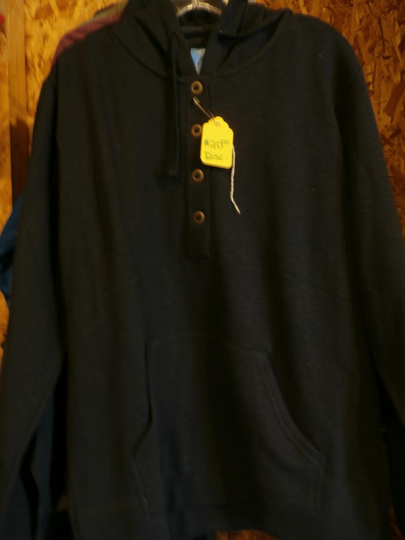 Hooded  4 Large  button  Muff pocket warm & Cozy heathered dark gray  $20.00