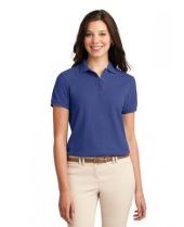 Meditereanan blue ladies collared shirt