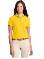 sunshime yellow  ladies collared sport shirt